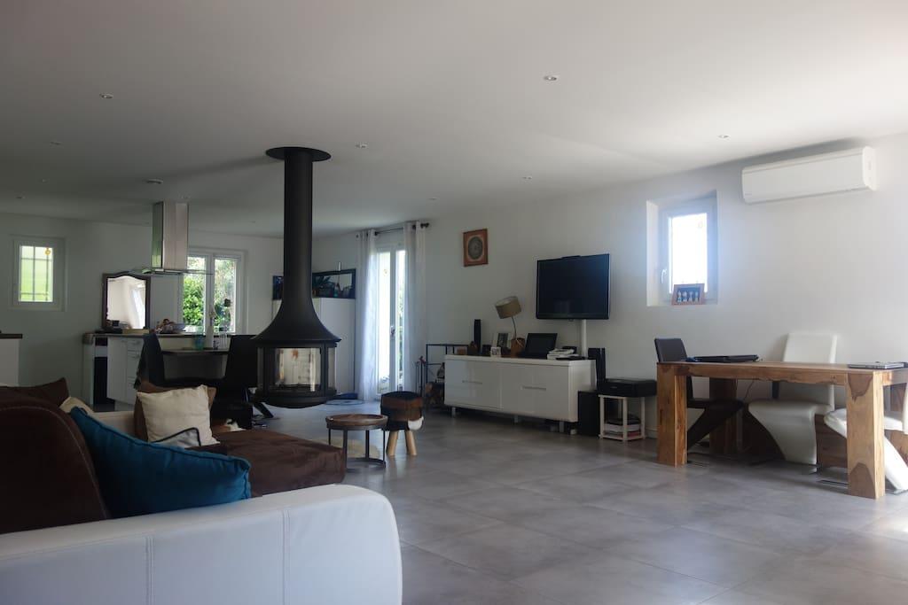 La pièce à vivre (40 m2)