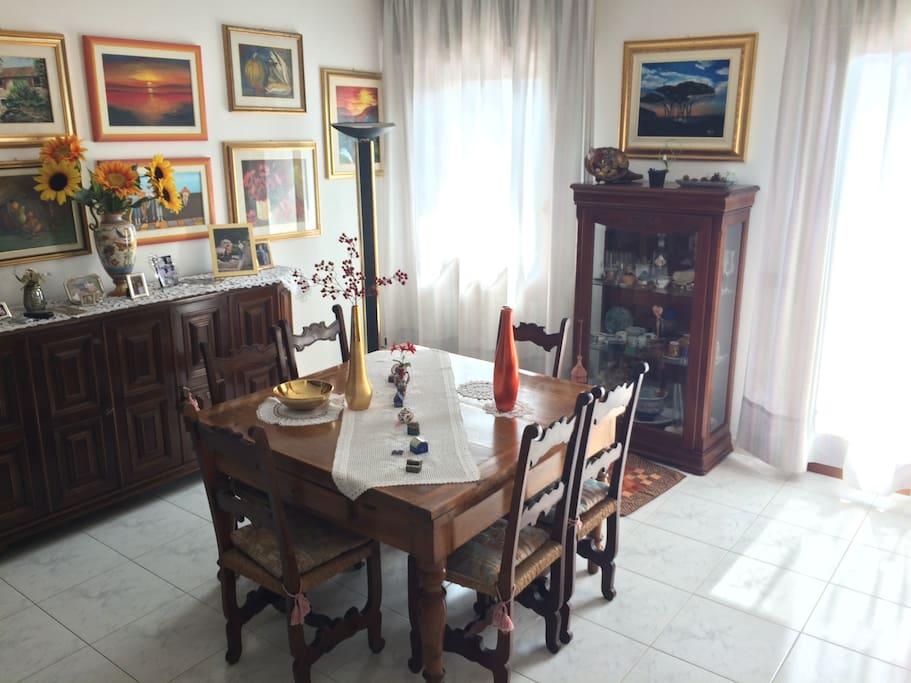 Sala da pranzo su open space