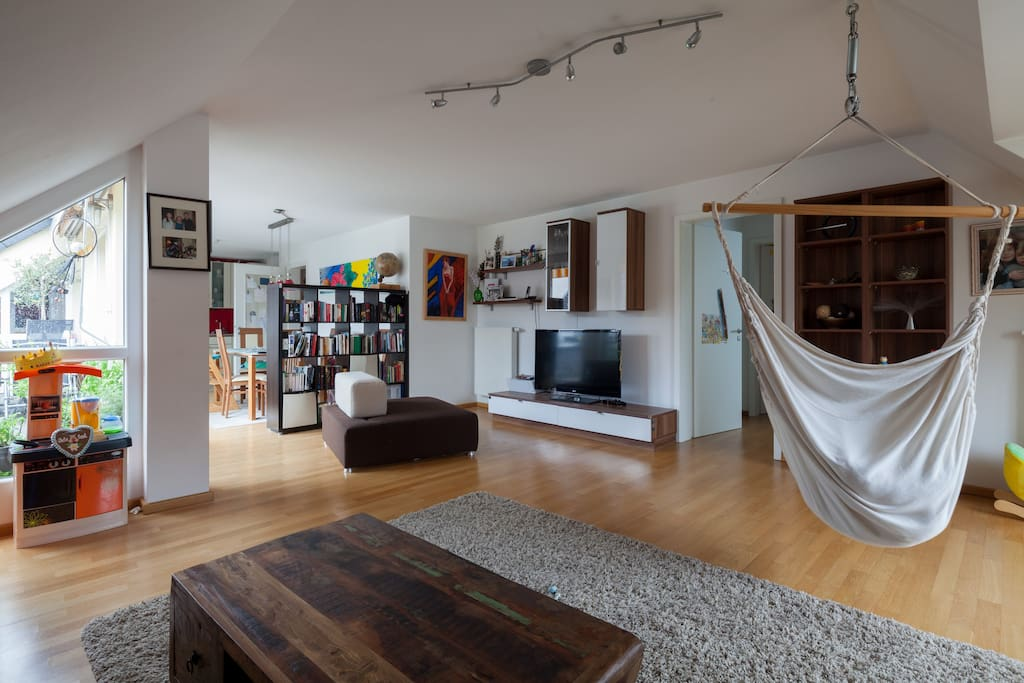 Spacious roof top apartment in central Munich.
