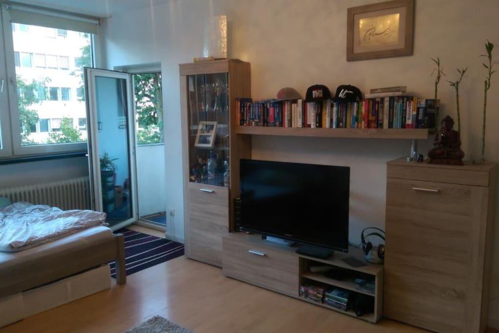 moderne 1 zimmer wohnung in messen he wohnungen zur. Black Bedroom Furniture Sets. Home Design Ideas
