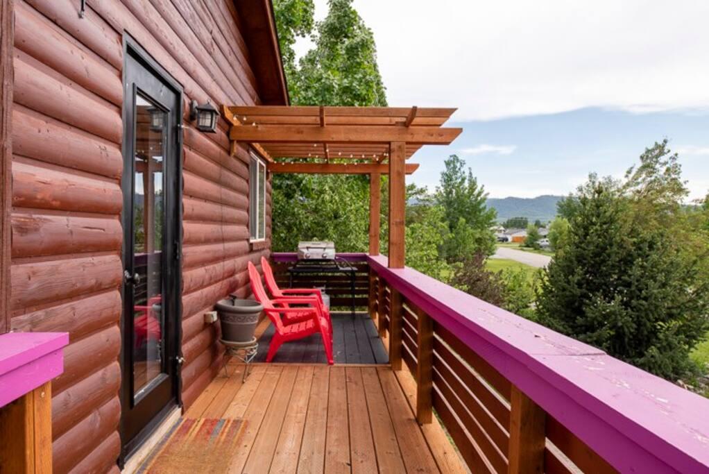 Beautiful sunny deck