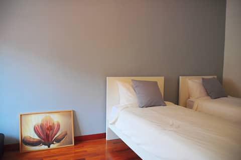 Standard Room with 2 Hotel Standard Single Beds, In Room TV and High Speed Wifi