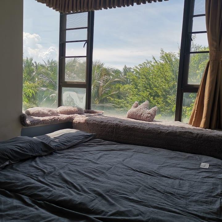 【千舟湾】开窗见椰树 近海 简约风 【QianZhouWan】Beach Coconut tree