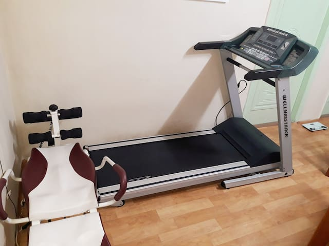 Enjoy the mini gym from 7am till 6pm