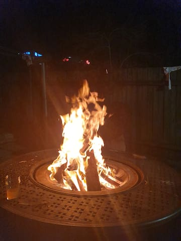 We love spending time around our backyard firepit, especiqlly during winter!