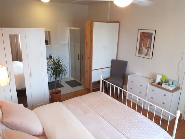 Rose room & en suite bathroom (glutenfree & vegan)