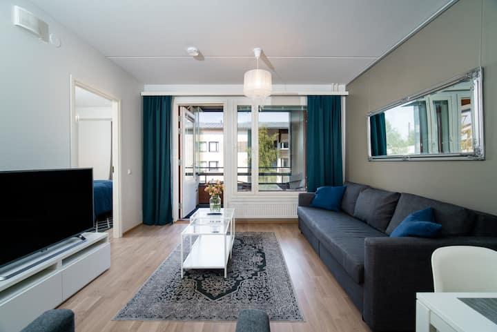 Stylish 1br apartment with sauna