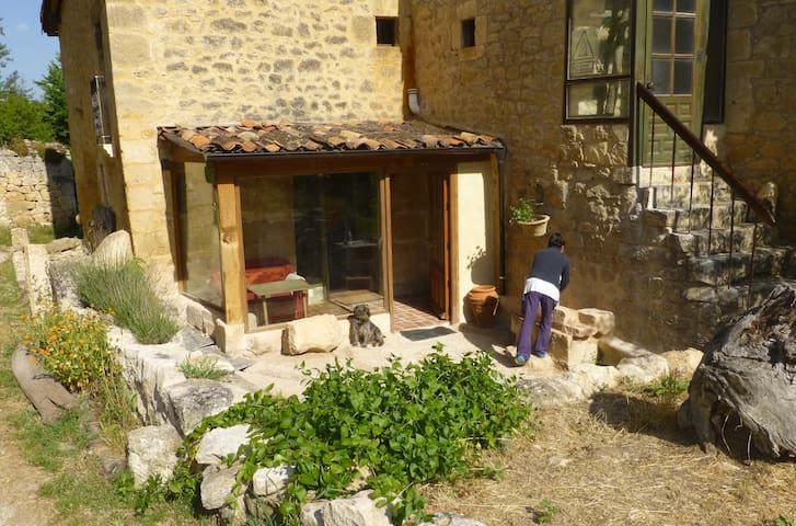 patio con porche