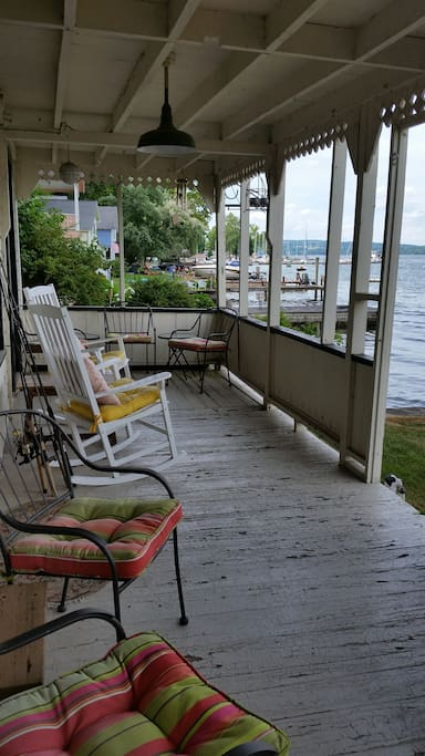 Lots of seating on porch