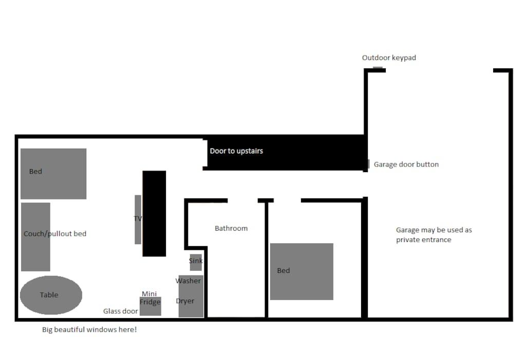 Basic floor plan.