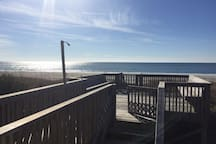 Porch Sitting And View to Beach