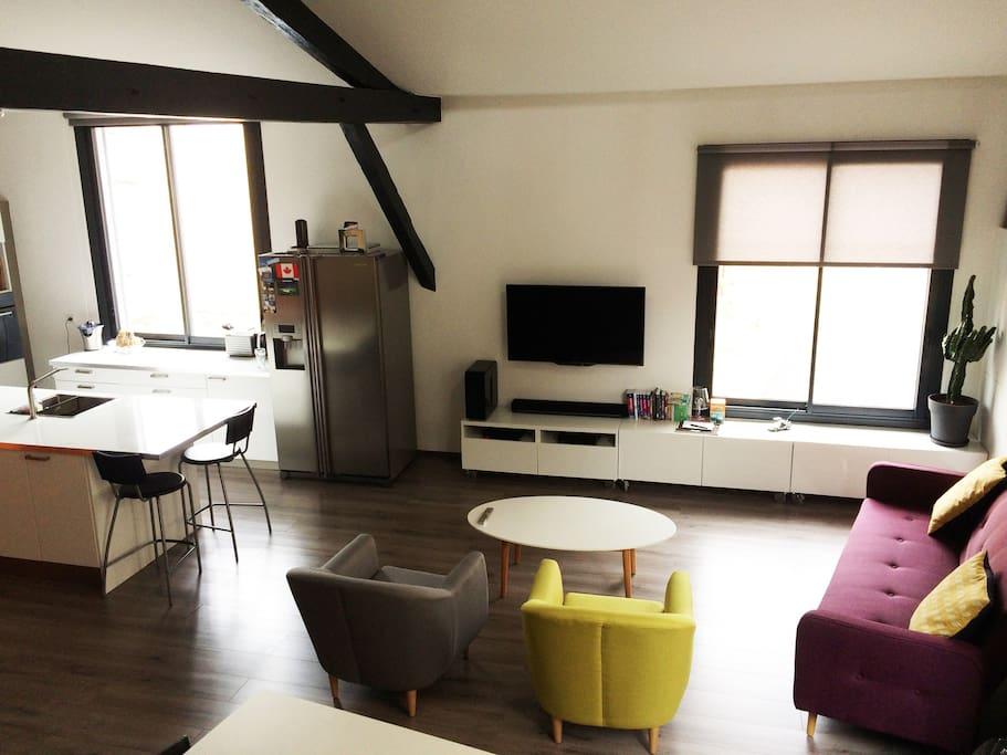 Niveau R+1 - espace salon
