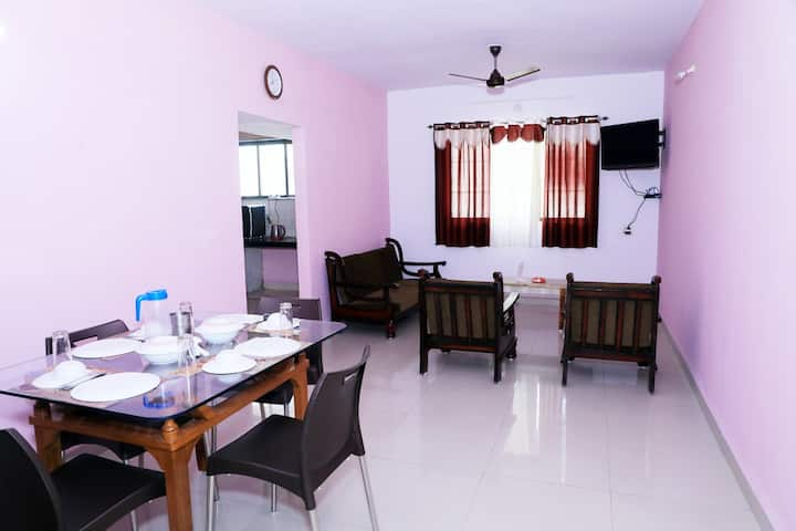 Modern 2BHK Flat with AC in the Heart of Daman