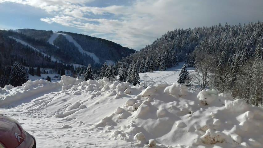 Appartement vue sur tourbière et pistes de ski