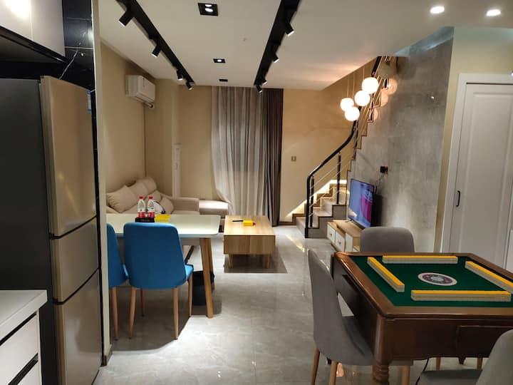 柳市五洲国际loft复式公寓可做饭生日趴