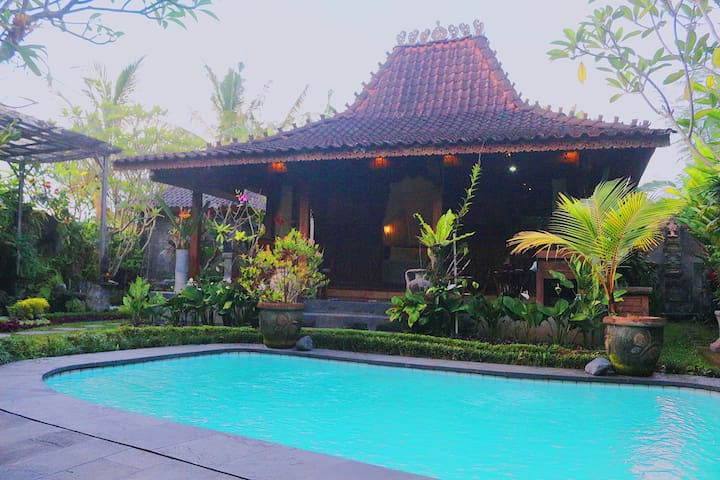 Sradha Joglo Villa - private pool in ubud