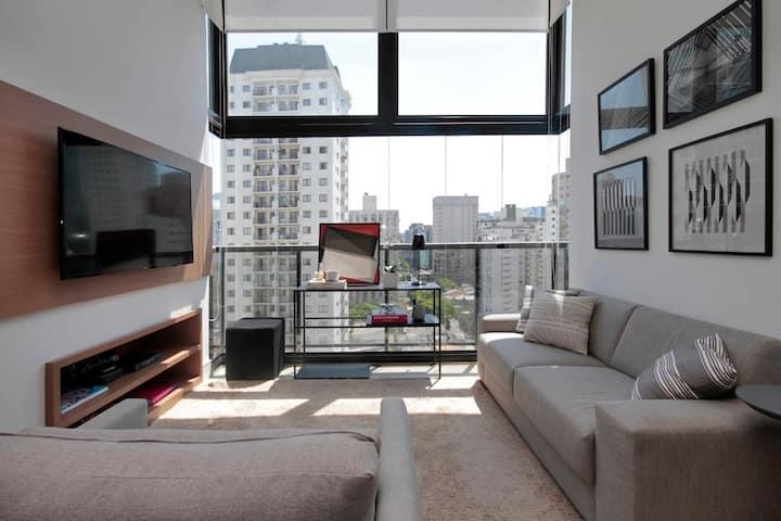 Lindo e Moderno Duplex na Vila Olímpia (VOX 147)
