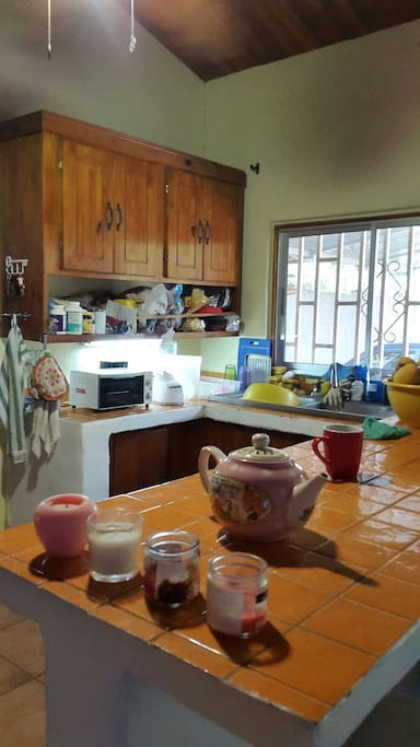 Küche mit Toaster