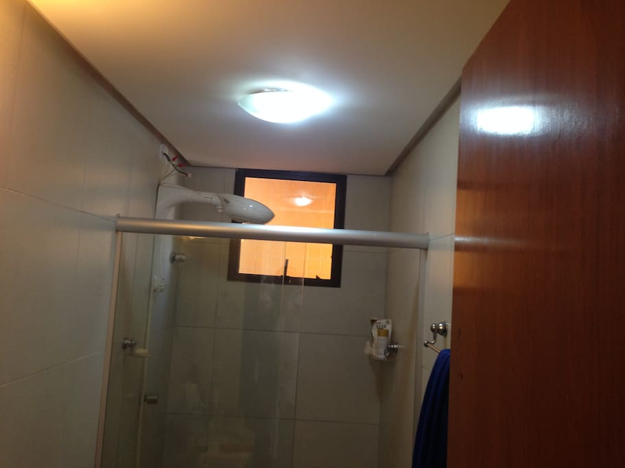 Your private restroom/bathroom with hot shower.