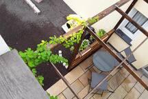 Terrasse für Gäste