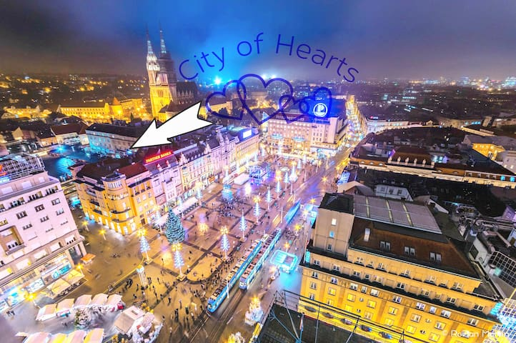 City of Hearts is placed on the main Market of the Zagreb City :)