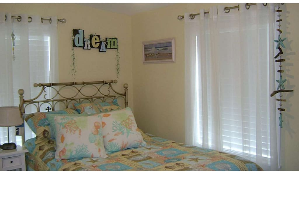 Full Sized Bed in the Master Bedroom