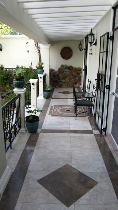 Trellis and front entrance to the Casita
