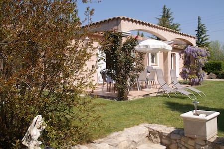 Beau domaine pour 12 avec 2 villas jardin piscine - Vaison-la-Romaine