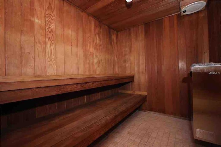 Oh, and don't forget a sauna too.  Are you relaxed enough yet?  Bet you'll sleep good tonight...