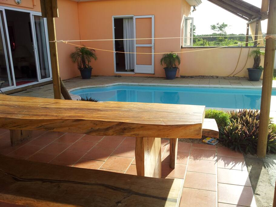 Large terrace near the pool