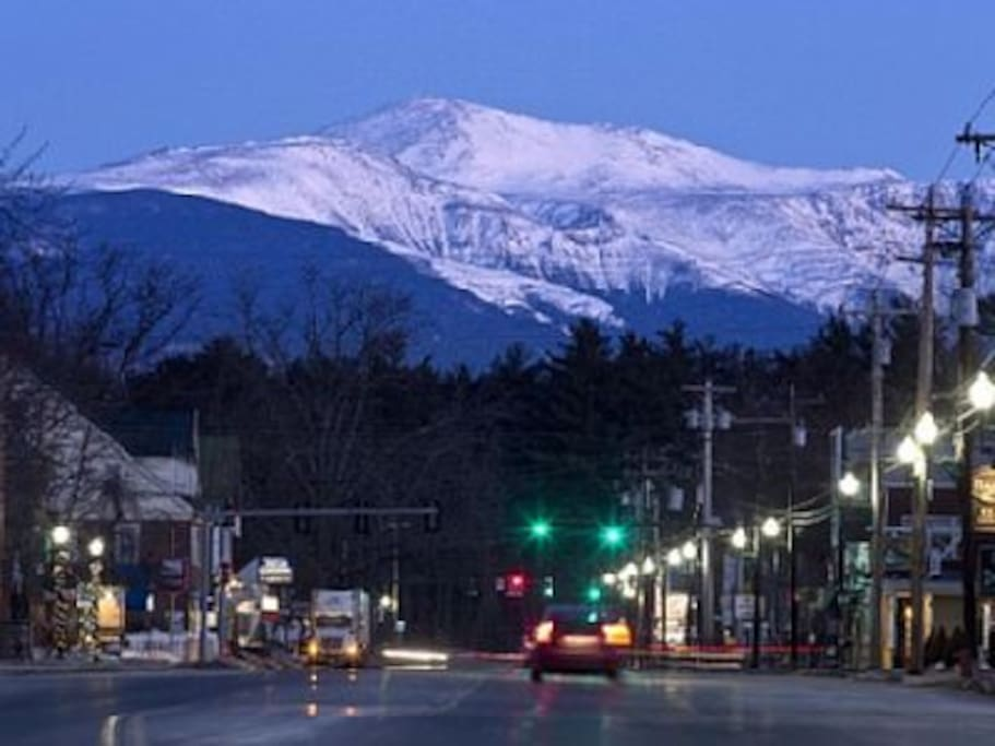 View of Mt Washington from the Village 1 block away.