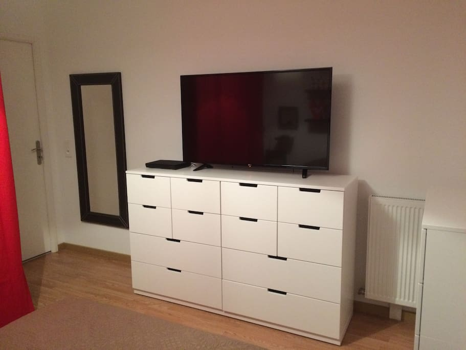 1 grande TV avec lecteur blu-ray/DVD. 1 large TV with DVD/bluray reader