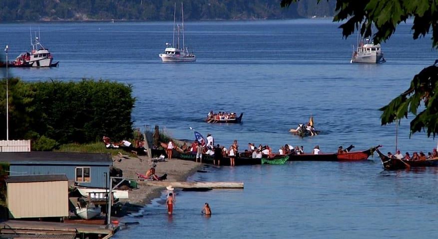 Suquamish tribal canoes are amazing to behold