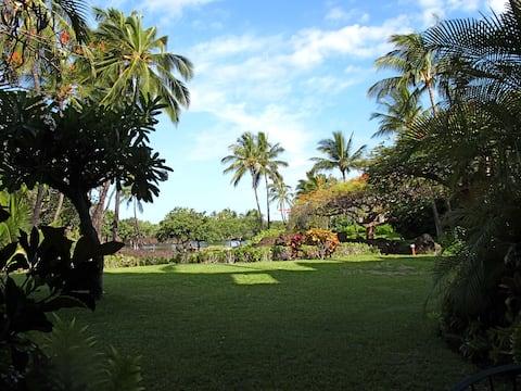 Mauna Lani L102, ground floor condo near the beach