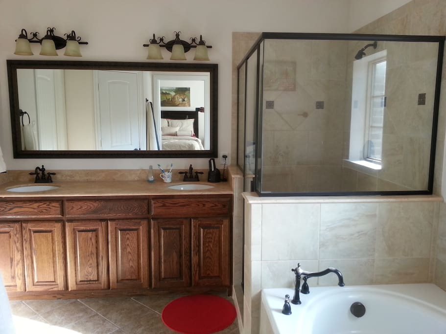 Master bath, with separate shower and garden tub