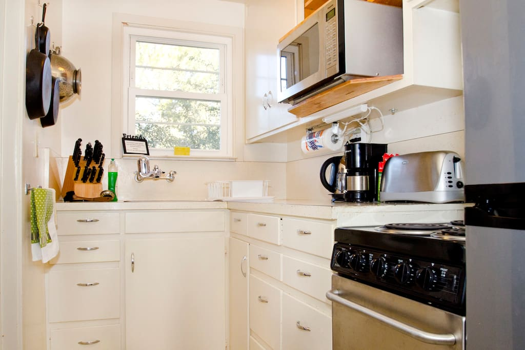 Comments we've received are that while the kitchen is small, it is complete and adequate!