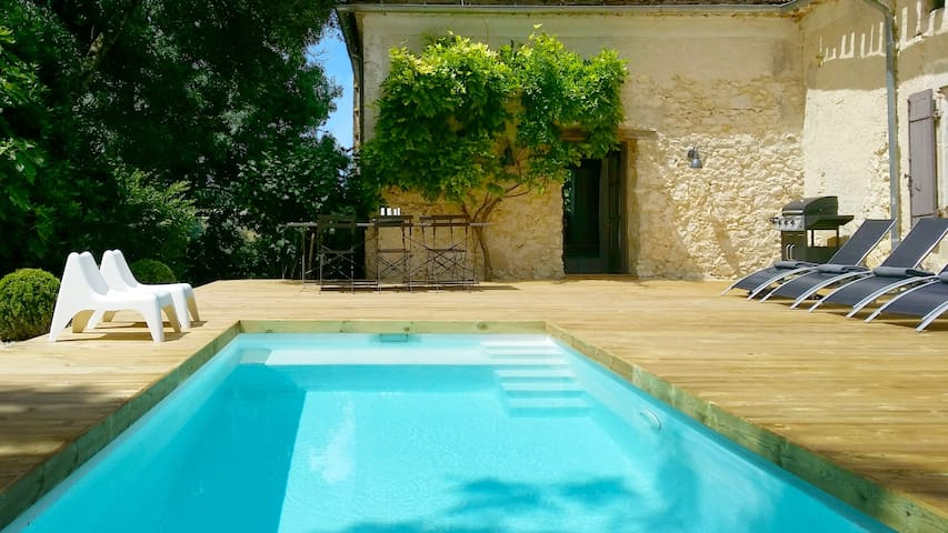 La Maison Palanchou - quiet, stylish, heated pool. - Auradou - Casa