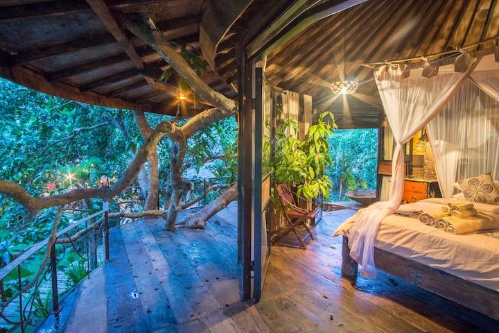 Treehouse vintage romantique et magique