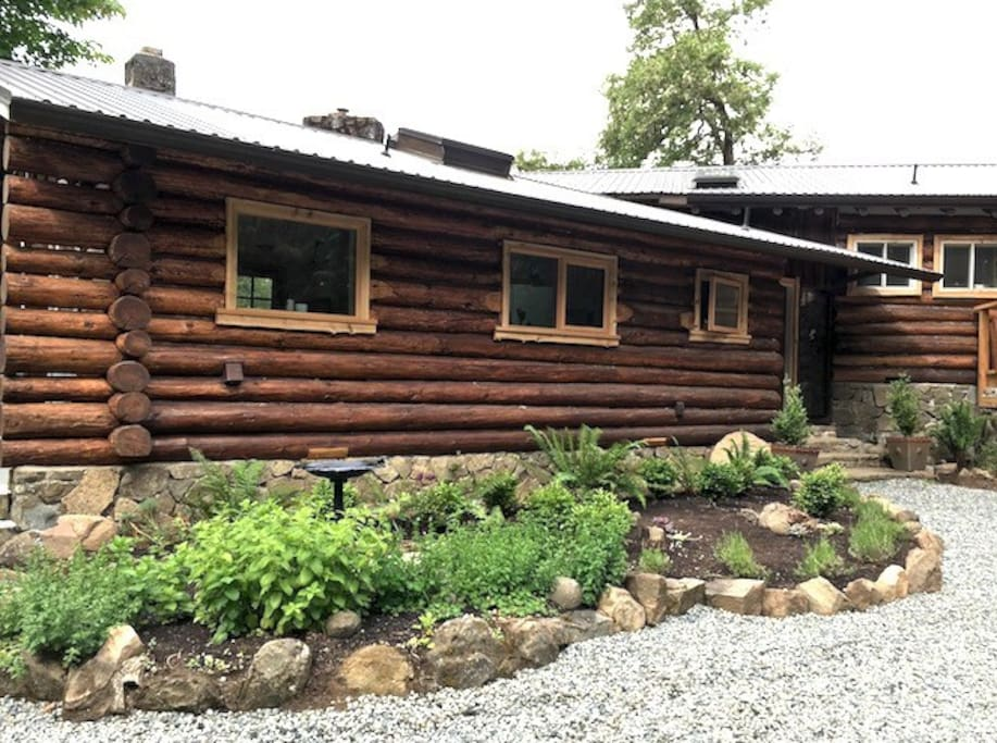 The Homestead has a herb garden and a new look for the old logs