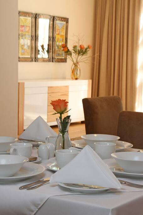 Breakfast Table Setting