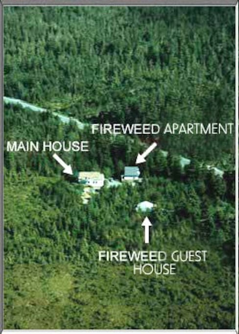 Our Aerial View - Fireweed Guest House (on North Douglas Highway)