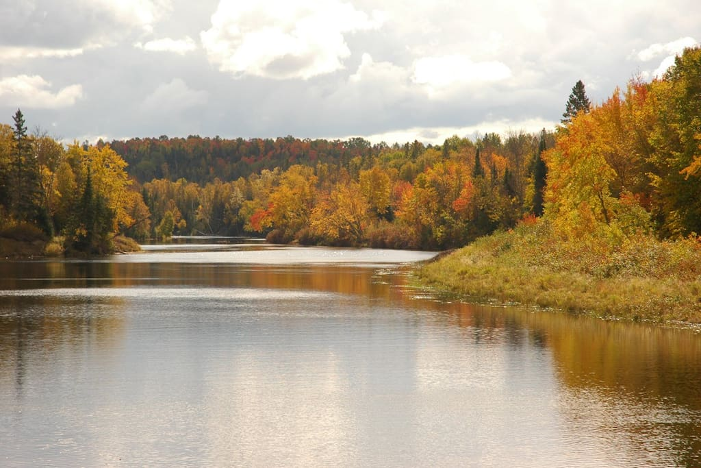 Autumn overlooking the Sturgeon River from one of our trails