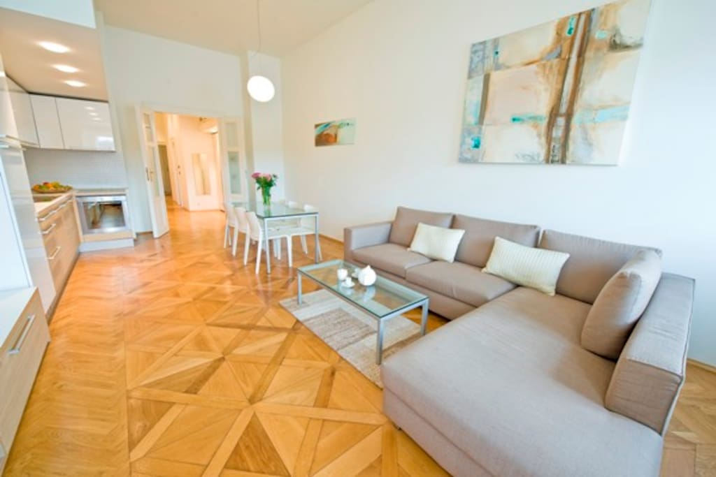 Charles Bridge Old Town Apartment 5 - Living Area