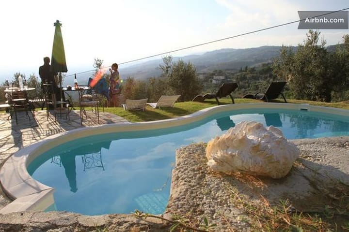 pool and view on the valley