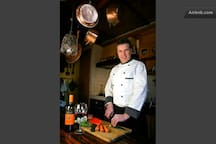 a guest chef [only for groups and upon availability of the chef]