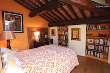 orange room [on our side of the property]