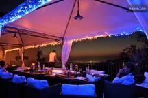 terrace at night