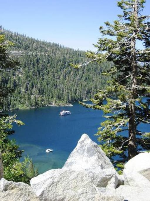 Beautiful Lake Tahoe...Why not rent a boat or a jet ski and go explore!!!