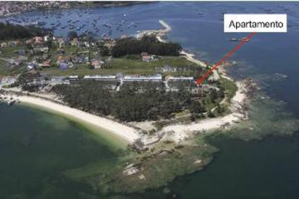 Situación del apartamento en a Illa de Arousa