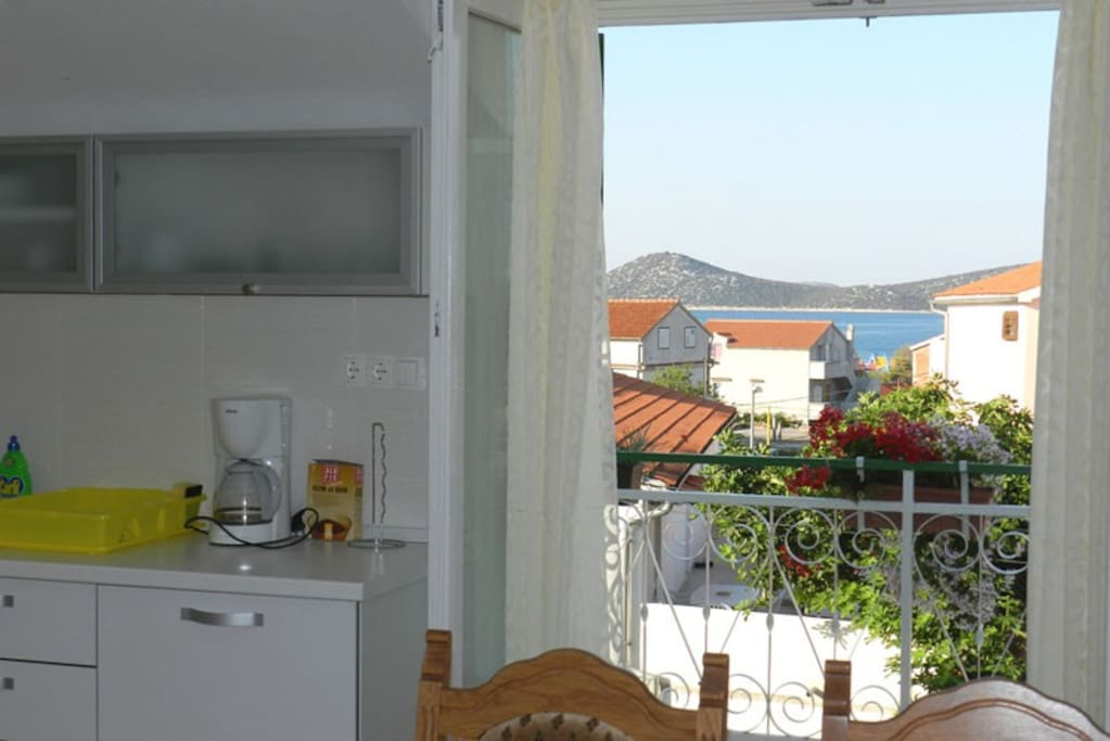 Sea view from the living-room